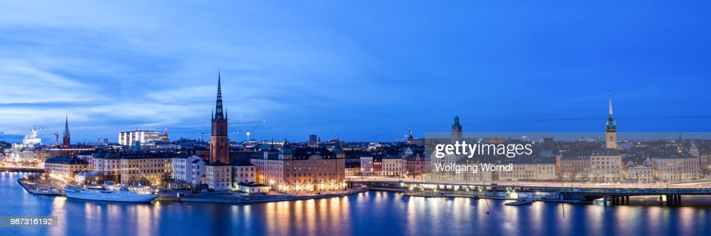 Stockholm Panorama : Stock Photo