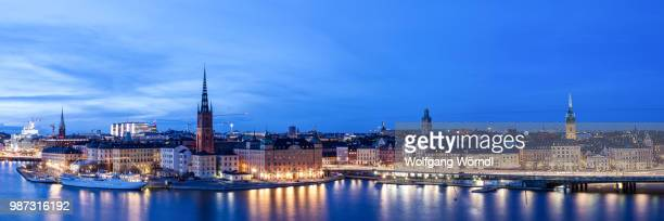 stockholm panorama - wolfgang wörndl stock pictures, royalty-free photos & images
