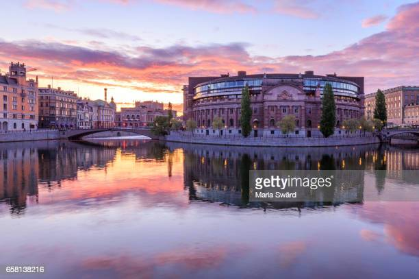 Stockholm -  Parliament House at Beautiful Sunrise