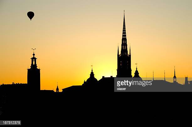 stockholm silhouette - stockholm stock pictures, royalty-free photos & images