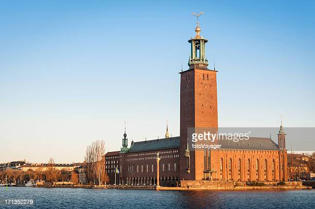 Stockholm Stadshuset City Hall sunrise Sweden