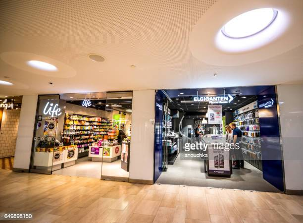 stockholm subway, sweden - electronics store stock photos and pictures