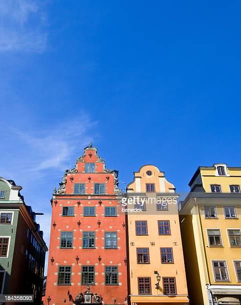 Stockholm Sweden Colorful Facades