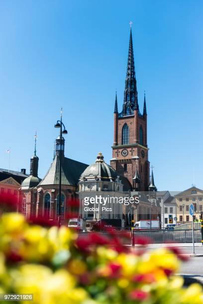 stockholm, schweden - riddarholmkirche stock-fotos und bilder