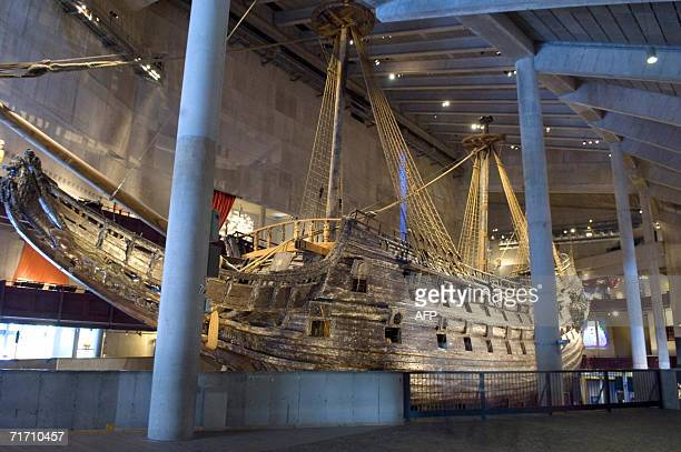 Swedish 17th century royal warship Vasa lies on drydock in Stockholm August 24, 2006. Fifty years ago tomorrow the sunken ship was rediscovered...