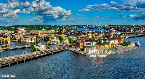 stockholm view - stockholm stock pictures, royalty-free photos & images