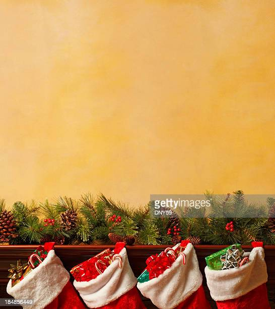 Stockings On Mantelpiece