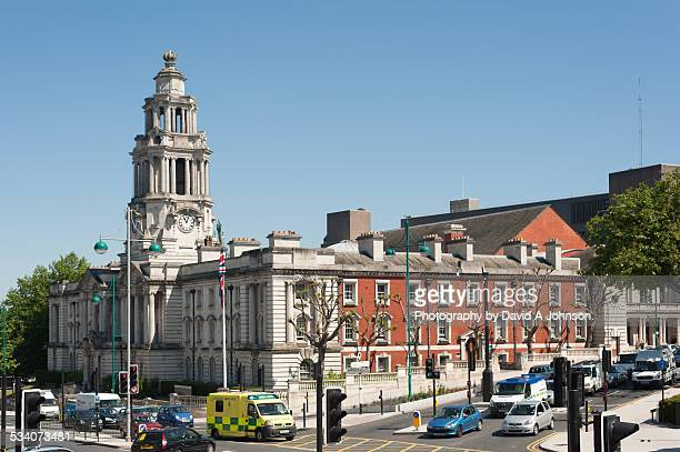 stockport town hall. - stockport stock-fotos und bilder