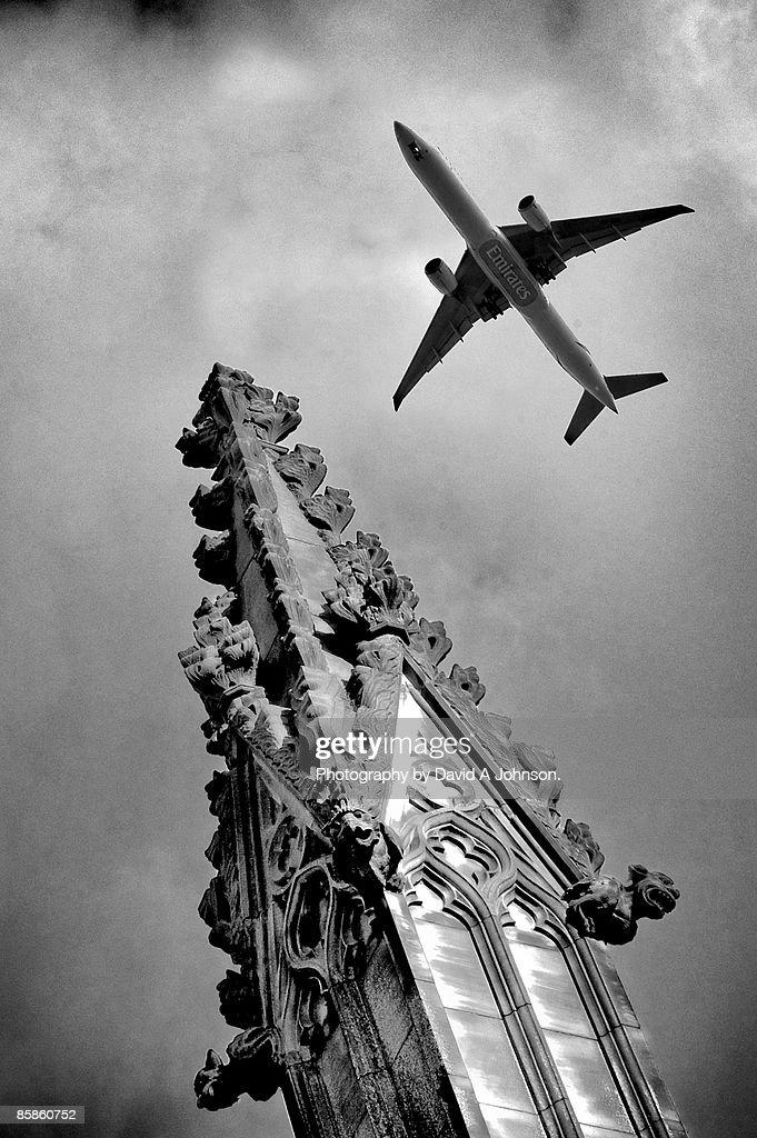 Stockport-Flightpath : Stock-Foto