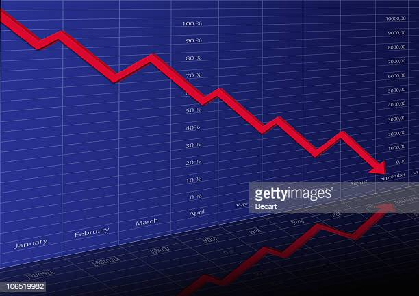 stocks and financial data - moving down stock pictures, royalty-free photos & images