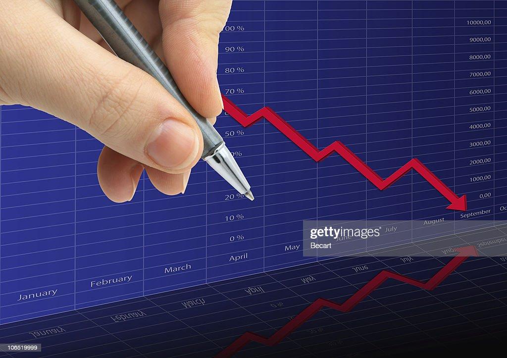 Aktien und finanzielle Daten : Stock-Foto