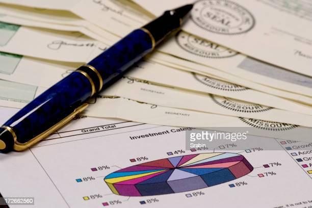 Stocks, Pie and Pen