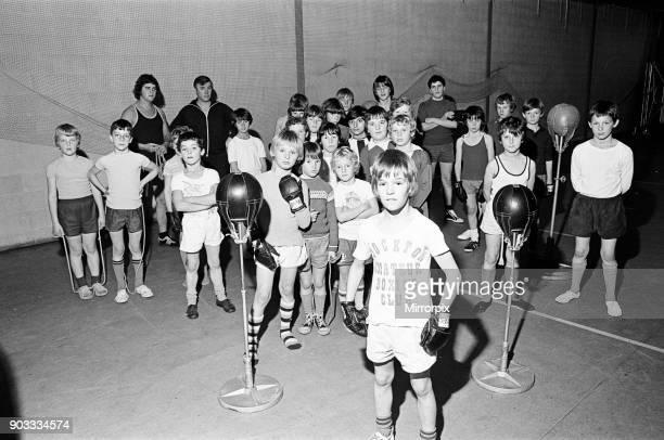 Stockton Amateur Boxing Club, Stockton, County Durham, North East England, 1975.