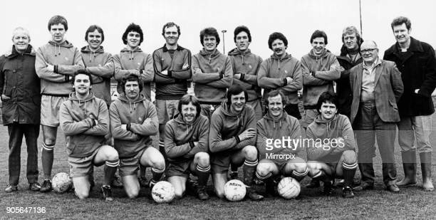 Stockton Buffs Football Team, 11th March 1980. The Buffs put up a good performance to beat Redcar Albion by a lone goal. The Buffs line up H Moor, G...