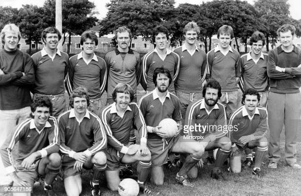 Stockton Buffs Football Team, 18th May 1979. Line up, front row, left to right, S Powell, J Thompson, R Easby, A Grainger, L Duff, R James, back row,...