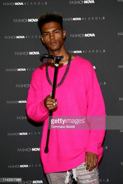 Stockz arrives as Fashion Nova Presents Party With Cardi at Hollywood Palladium on May 8 2019 in Los Angeles California