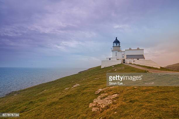 Stoer Head lighthouse in Highlands, Scotland.