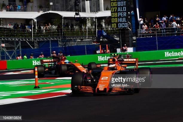 Stoffel Vandoorne Fernando Alonso McLaren Honda formula 1 GP Mexiko Mexiko Stadt