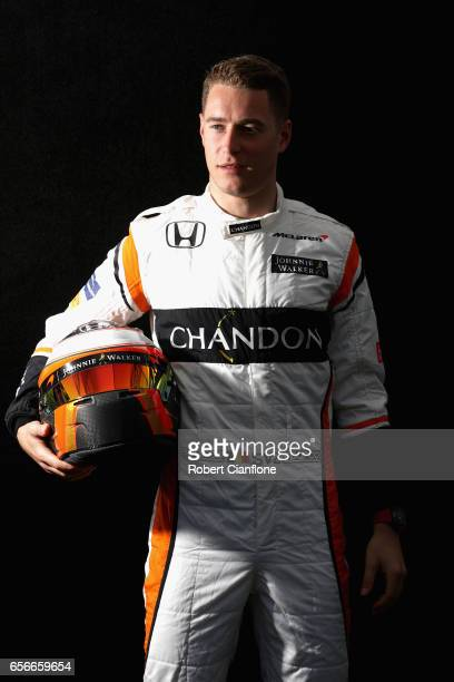 Stoffel Vandoorne of Belgium and McLaren Honda poses for a portrait during previews to the Australian Formula One Grand Prix at Albert Park on March...