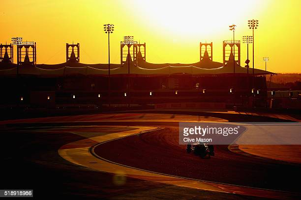Stoffel Vandoorne of Belgium drives the McLaren Honda Formula 1 Team McLaren MP431 Honda RA616H Hybrid turbo on one of his installation laps before...