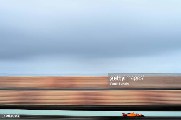 Stoffel Vandoorne of Belgium driving the McLaren F1 Team MCL33 Renault on track during day four of F1 Winter Testing at Circuit de Catalunya on March...