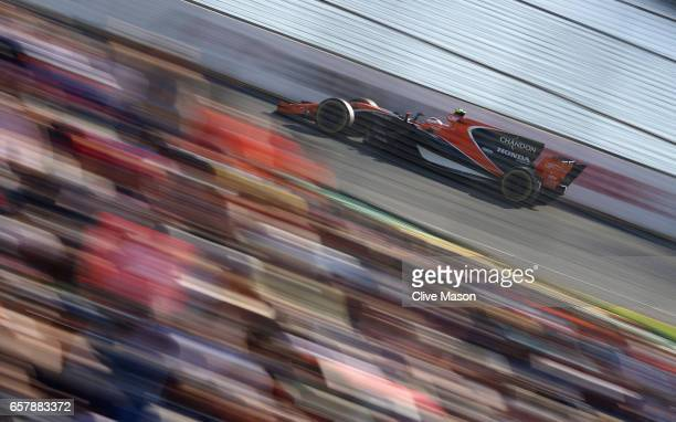 Stoffel Vandoorne of Belgium driving the McLaren Honda Formula 1 Team McLaren MCL32 on track during the Australian Formula One Grand Prix at Albert...