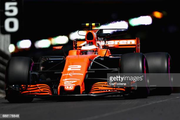 Stoffel Vandoorne of Belgium driving the McLaren Honda Formula 1 Team McLaren MCL32 on track during practice for the Monaco Formula One Grand Prix at...