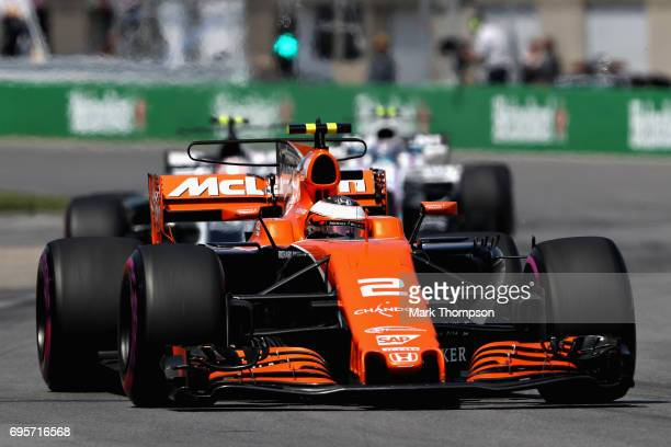 Stoffel Vandoorne of Belgium driving the McLaren Honda Formula 1 Team McLaren MCL32 on track during the Canadian Formula One Grand Prix at Circuit...