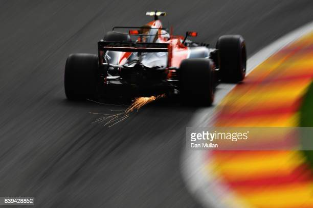 Stoffel Vandoorne of Belgium driving the McLaren Honda Formula 1 Team McLaren MCL32 on track during final practice for the Formula One Grand Prix of...