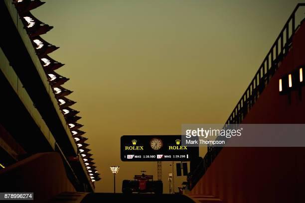 Stoffel Vandoorne of Belgium driving the McLaren Honda Formula 1 Team McLaren MCL32 in the Pitlane during qualifying for the Abu Dhabi Formula One...