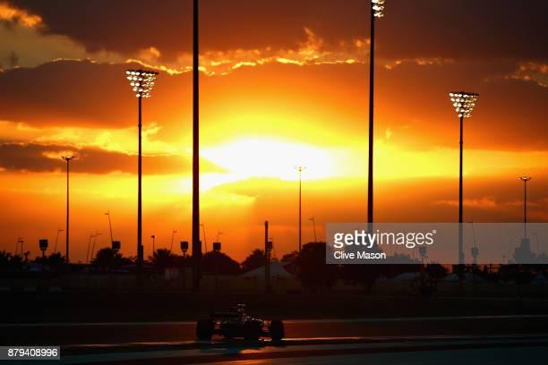 Stoffel Vandoorne of Belgium driving the McLaren Honda Formula 1 Team McLaren MCL32 on track during the Abu Dhabi Formula One Grand Prix at Yas...