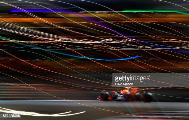 Stoffel Vandoorne of Belgium driving the McLaren Honda Formula 1 Team McLaren MCL32 on track during the Abu Dhabi Formula One Grand Prix at Yas...