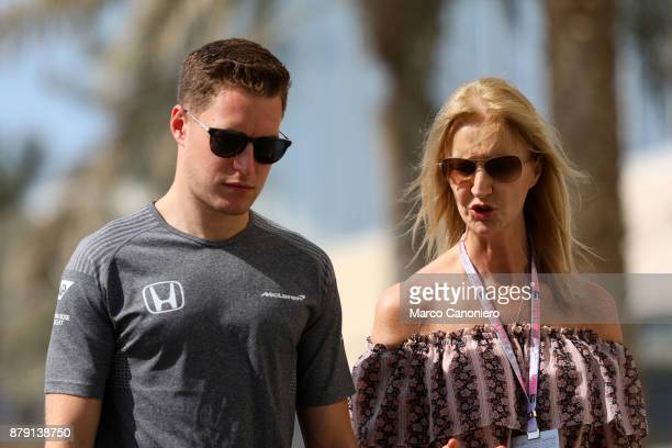 Stoffel Vandoorne of McLaren Honda Formula 1 Team in the paddock during the Abu Dhabi Formula One Grand Prix