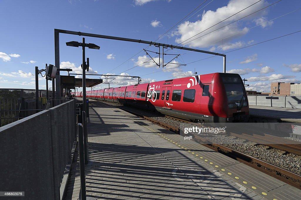 S-toget Commuter train in Copenhagen : Stock Photo