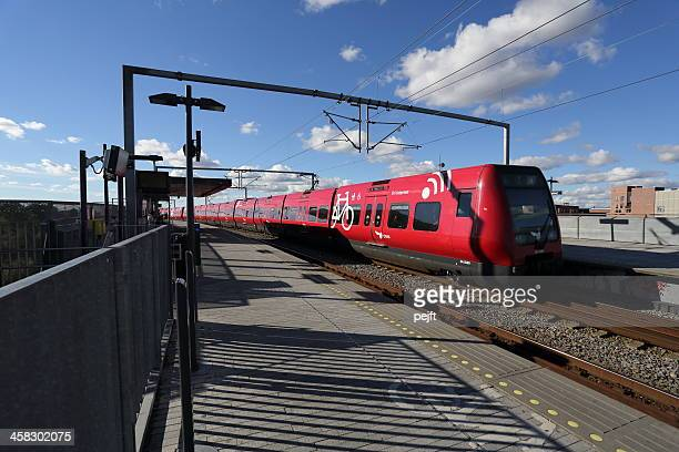 s-toget commuter train in copenhagen - pejft stock pictures, royalty-free photos & images