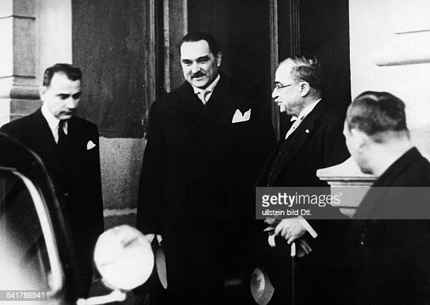 Stojadinovic Milan Politician Yugoslavia*23071888Prime Minister of Yugoslavia 19351939Stojanivic with Greek Prime Minister Ioannis Metaxas and Rushdy...