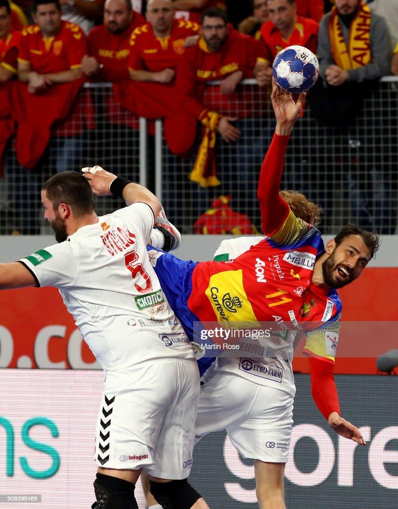 FYR Macedonia v Spain - EHF Euro Croatia 2018