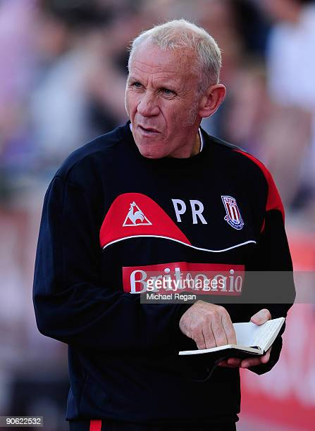 Stoke City Assistant Manager Peter Reid looks on prior to the Barclays Premier League match between Stoke City and Chelsea at the Britannia Stadium...