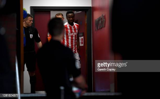 Stoke City captain John Obi Mikel leaves the dressing room ahead of the Sky Bet Championship match between Stoke City and Barnsley at Bet365 Stadium...