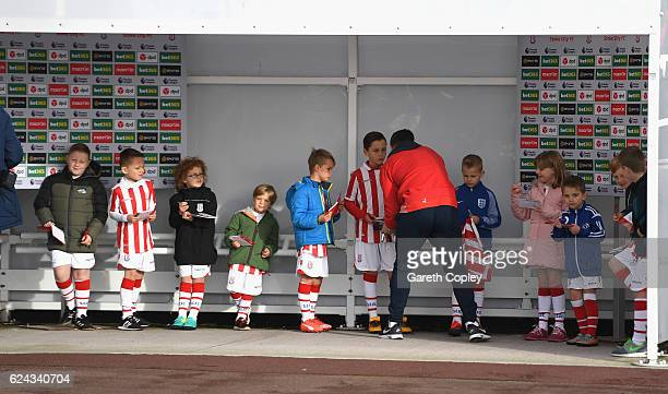 Stoke City fans enjoy the pre match atmosphere prior to kick off during the Premier League match between Stoke City and AFC Bournemouth at Bet365...