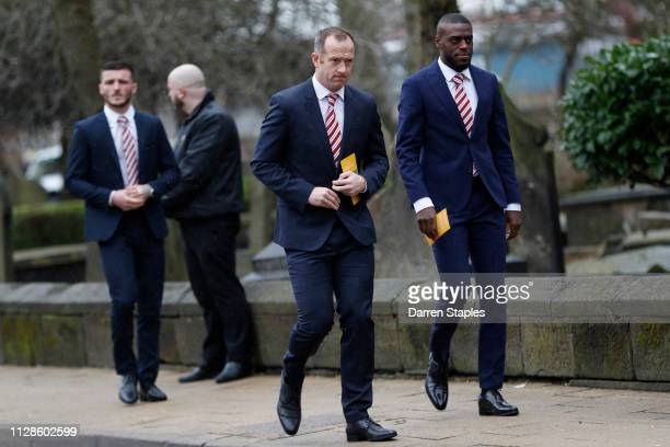 Stoke City football player Charlie Adam attends the funeral of 1966 World Cup and former Stoke City Goalkeeper Gordon Banks on March 04 2019 in Stoke...