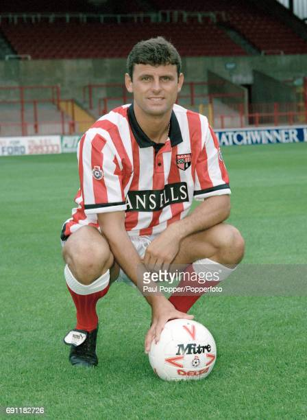 Stoke City footballer Wayne Biggins circa August 1991