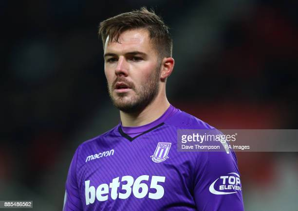 Stoke City goalkeeper Jack Butland during the Premier League match at the Bet35 Stadium StokeonTrent