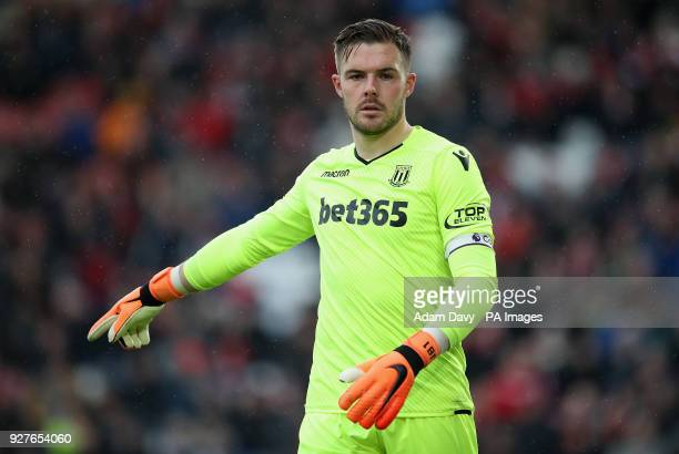 Stoke City goalkeeper Jack Butland