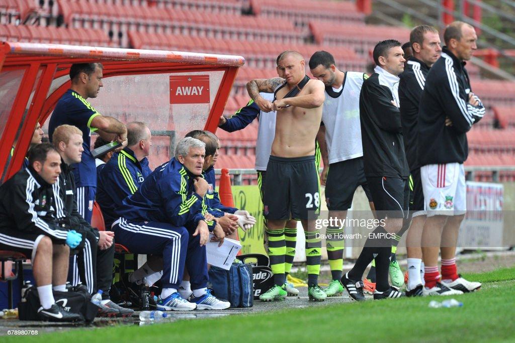 Soccer - Pre-Season Friendly - Wrexham v Stoke City - The Racecourse Ground : News Photo