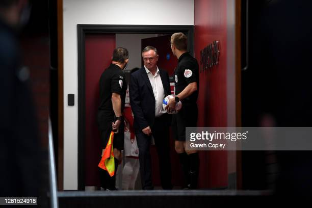 Stoke City manager Michael O'Neill leaves the dressing room ahead of the Sky Bet Championship match between Stoke City and Barnsley at Bet365 Stadium...