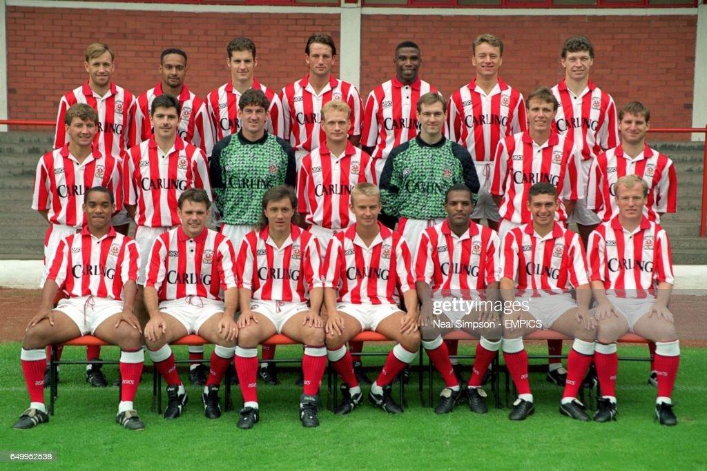 Stoke City Team Group Back Row L R John Butler Martin Carruthers