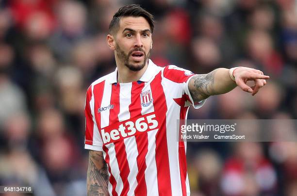Stoke City's Geoff Cameron during the Premier League match between Stoke City and Middlesbrough at Bet365 Stadium on March 4 2017 in Stoke on Trent...