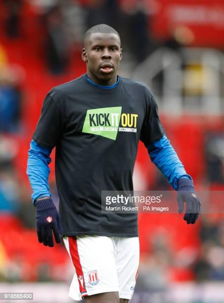 Stoke City's Kurt Zouma during the Premier League match at the bet365 Stadium Stoke