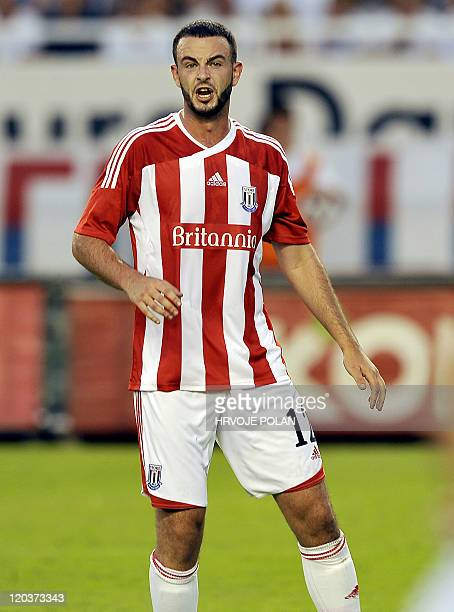 Stoke City's Marc Wilson looks on during the UEFA Europa League qualifier football match Hadjuk Split vs Stoke City on August 4 2011 in Split AFP...